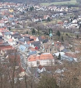 Stadtkern Pegnitz von oben