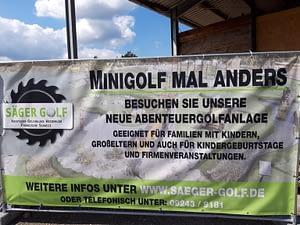 neue Minigolf Anlage auf der Erlebnismeile in Pottenstein