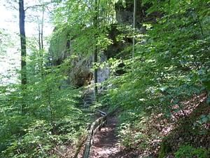 Abstieg Riesenburg