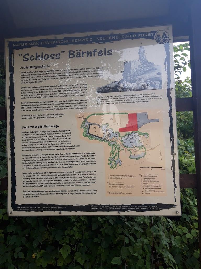 Geschichte Burgruine Bärnfels