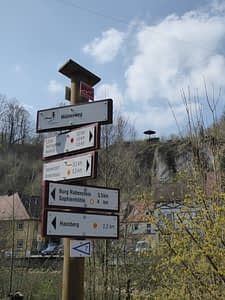 Wanderwegweiser in Waischenfeld