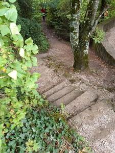 Treppe an der Burg Rabenstein