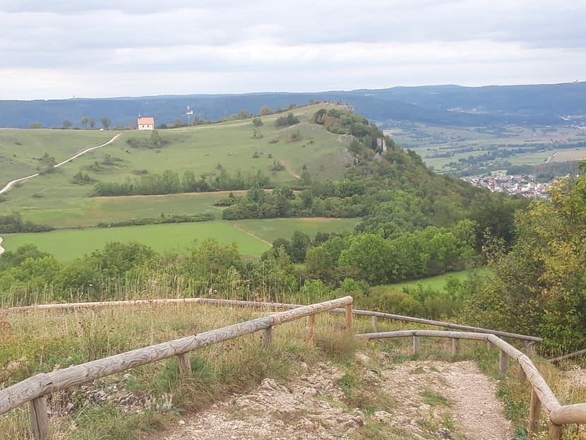 Blick vom Rodenstein über die Ehrenbürg