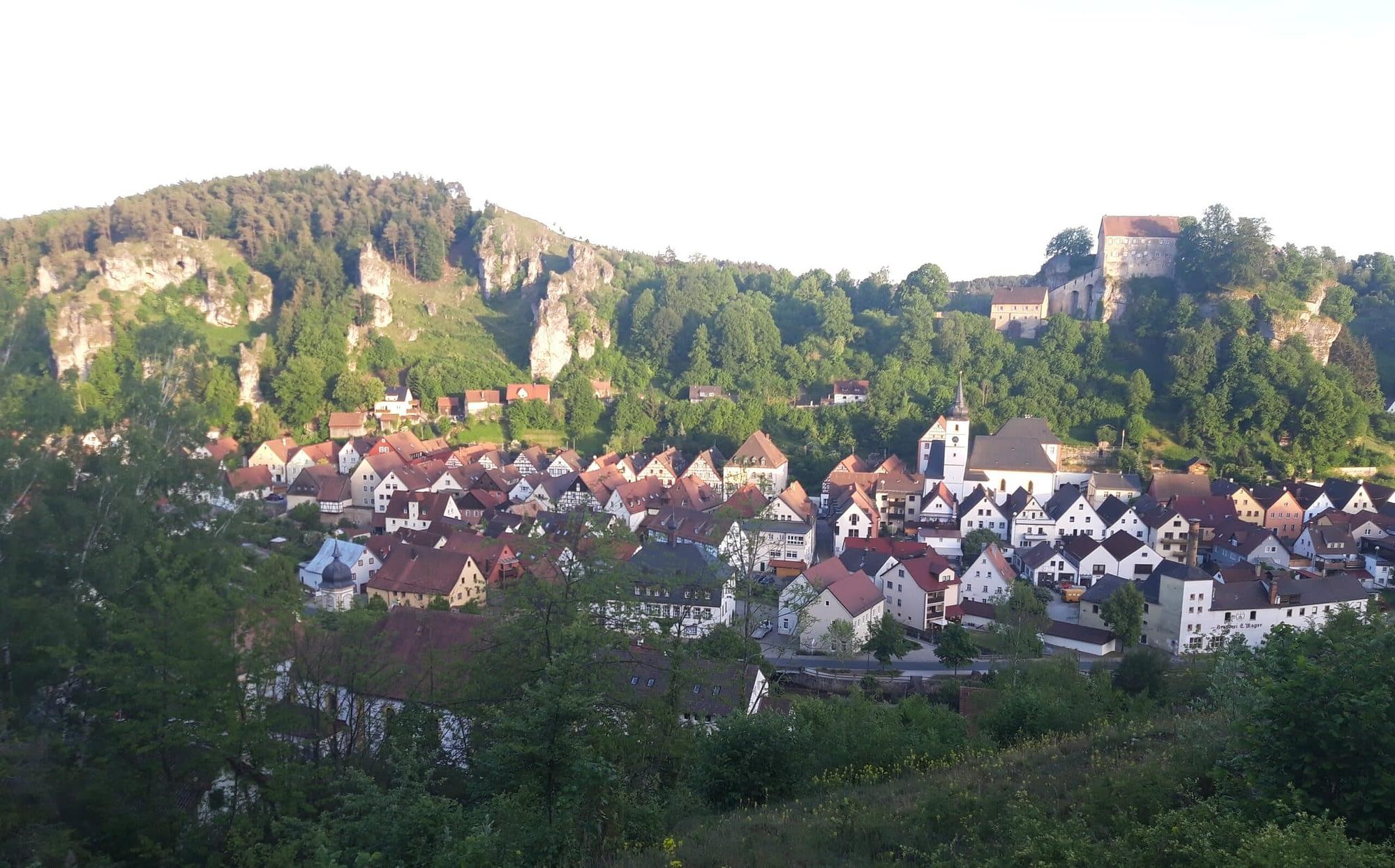Pottenstein - Blick vom Köppelplatz
