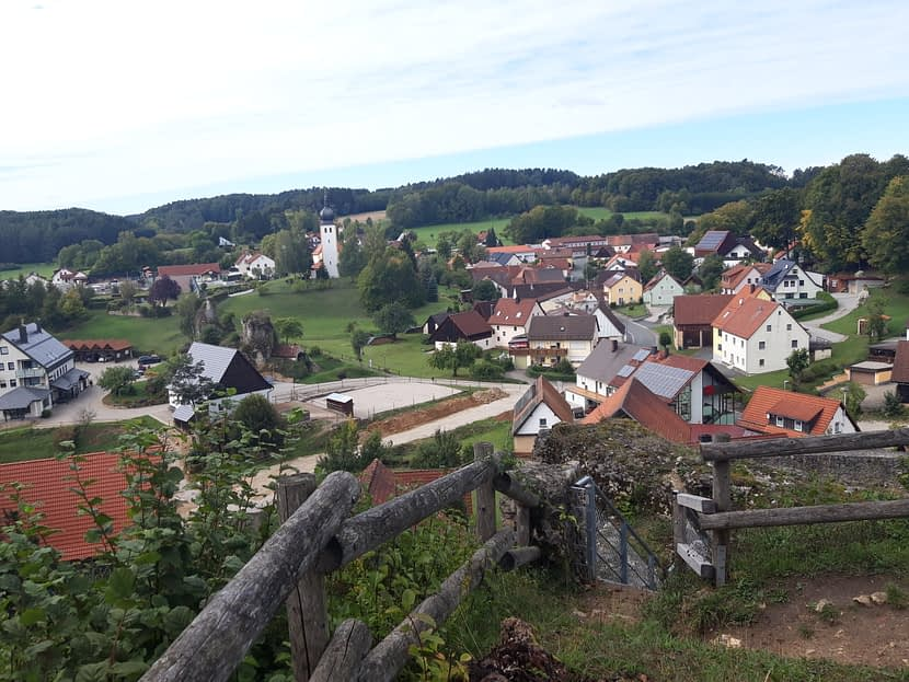Blick über den Ort Bärnfels