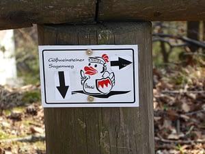 Wanderwegweisung in Gößweinstein